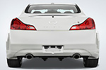 Straight rear view of a 2008 Infiniti G37S Coupe