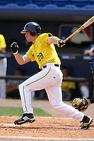 March 21, 2010:  Third Baseman Kevin Krantz (28) of the Michigan Wolverines at bat during a game at Tradition Field in St. Lucie, FL.  Photo By Mike Janes/Four Seam Images