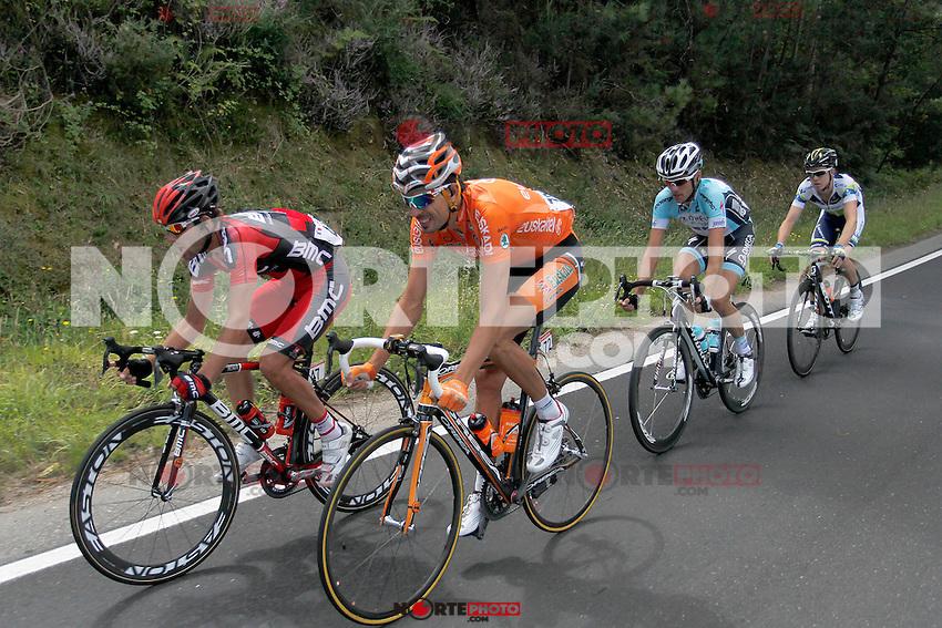 Amael Moinard (l),Ruben Perez (2l), Cameron Meyer (2r) and Thomas De Gendt during the stage of La Vuelta 2012 between Vilagarcia de Arousa and Mirador de Erazo (Dumbria).August 30,2012. (ALTERPHOTOS/Paola Otero) /NortePhoto.com<br /> <br /> **CREDITO*OBLIGATORIO** <br /> *No*Venta*A*Terceros*<br /> *No*Sale*So*third*<br /> *** No*Se*Permite*Hacer*Archivo**<br /> *No*Sale*So*third*