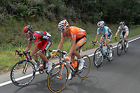 Amael Moinard (l),Ruben Perez (2l), Cameron Meyer (2r) and Thomas De Gendt during the stage of La Vuelta 2012 between Vilagarcia de Arousa and Mirador de Erazo (Dumbria).August 30,2012. (ALTERPHOTOS/Paola Otero) /NortePhoto.com<br />