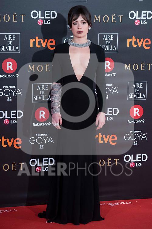 XXX attends red carpet of Goya Cinema Awards 2018 at Madrid Marriott Auditorium in Madrid , Spain. February 03, 2018. (ALTERPHOTOS/Borja B.Hojas)