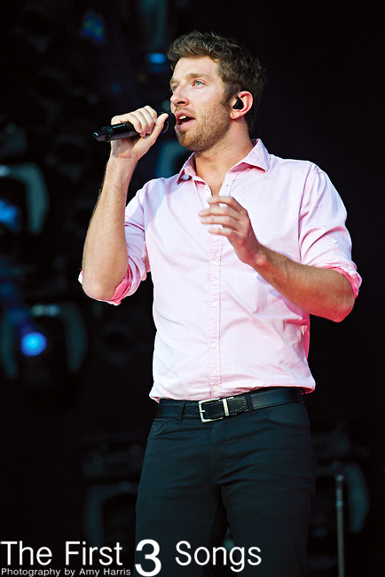 Brett Eldredge performs at LP Field during Day 3 of the 2013 CMA Music Festival in Nashville, Tennessee.