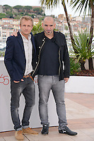 Jeremie Renier and Pablo Trapero attending the ELEFANTE BLANCO Photocall during the 65th annual International Cannes Film Festival in Cannes, France, 21th May 2012...Credit: Timm/face to face / Mediapunchinc