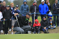 Robert Karlsson (SWE) on the 11th green during Round 1of the Sky Sports British Masters at Walton Heath Golf Club in Tadworth, Surrey, England on Thursday 11th Oct 2018.<br /> Picture:  Thos Caffrey | Golffile<br /> <br /> All photo usage must carry mandatory copyright credit (© Golffile | Thos Caffrey)