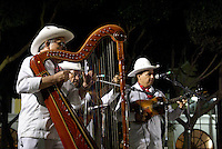 Traditional son jarocho band performing in the Plaza de Aramas, city of Veracruz, Mexico