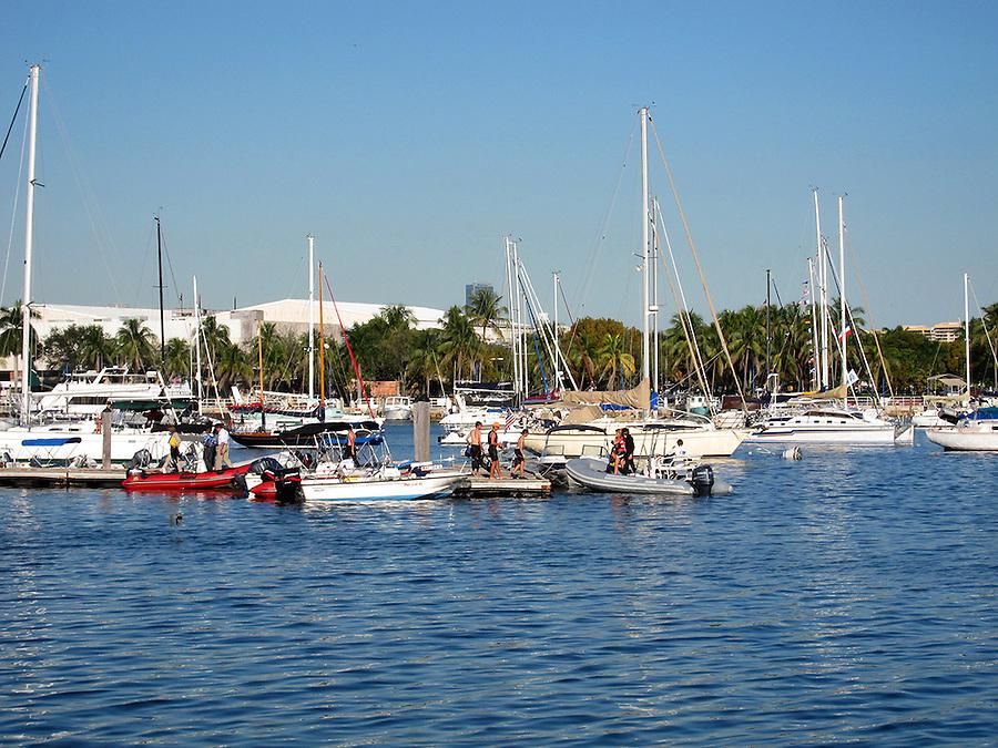 Harbor in Coconut Grove, Miami, Florida