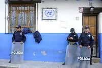 Messico, Chiapas, .Novembre 2010.Manifestazione di contadini del pueblo Nuovo Chiapas contro l'arresto di alcuni integranti delle associazioni del posto