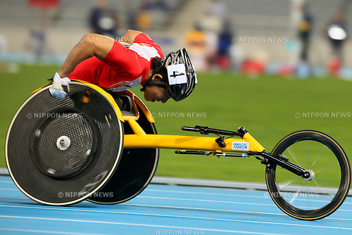 Yoshihumi Nagao (JPN), <br /> OCTOBER 19, 2014 -  Athletics : <br /> Men's 400m T54 <br /> at Incheon Asiad Main Stadium<br /> during the 2014 Incheon Asian Para Games <br /> in Incheon, South Korea. <br /> (Photo by Yohei Osada/AFLO SPORT) [1156]