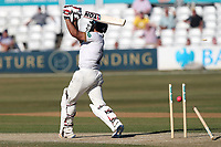 Ravi Bopara of Essex is bowled ut by Peter Trego for 118 during Essex CCC vs Somerset CCC, Specsavers County Championship Division 1 Cricket at The Cloudfm County Ground on 26th June 2018