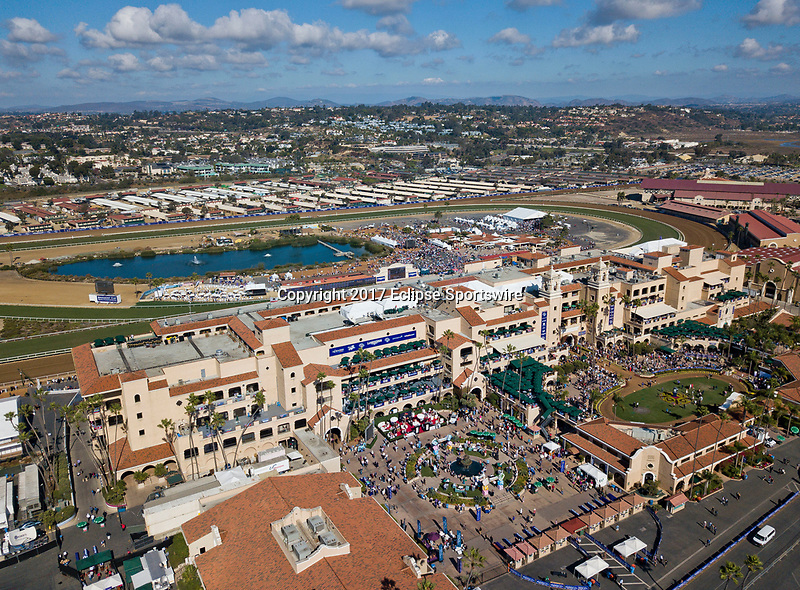 DEL MAR, CA - NOVEMBER 04: Scenes from the air on Day 2 of the 2017 Breeders' Cup World Championships at Del Mar Racing Club on November 4, 2017 in Del Mar, California. (Photo by Scott Serio/Eclipse Sportswire/Breeders Cup)