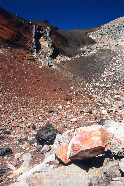 Rocks and pumice in the Red Crater - Tongariro National Park, New Zealand