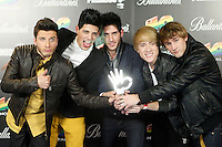 Auryn attends 40 Principales awards photocall of winners  2012 at Palacio de los Deportes in Madrid, Spain. January 24, 2013. (ALTERPHOTOS/Caro Marin) /NortePhoto