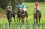 On the left Keith Moriarty on Need for Speed, winner of the Local Plate at the Cahersiveen Races on Sunday.