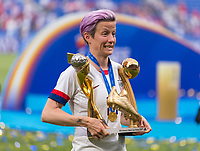 LYON,  - JULY 7: Megan Rapinoe #15 celebrates during a game between Netherlands and USWNT at Stade de Lyon on July 7, 2019 in Lyon, France.