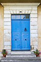 Traditional double door, Ile De Re, France.