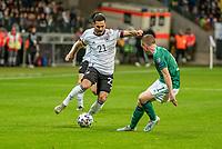 19th November 2019, Frankfurt, Germany; 2020 European Championships qualification, Germany versus Northern Ireland;  Ilkay Gundogan GER and Shane Ferguson NIR