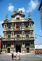 PAMPLONA-ESPAÑA-27-07-2004. Alcaldía de la ciudad Pamplona, España. Mayoralty of the Pamplona city, Spain (Photo: Luis Ramirez)..