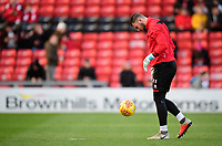 Lincoln City's Grant Smith during the pre-match warm-up<br /> <br /> Photographer Chris Vaughan/CameraSport<br /> <br /> The EFL Sky Bet League Two - Lincoln City v Port Vale - Tuesday 1st January 2019 - Sincil Bank - Lincoln<br /> <br /> World Copyright © 2019 CameraSport. All rights reserved. 43 Linden Ave. Countesthorpe. Leicester. England. LE8 5PG - Tel: +44 (0) 116 277 4147 - admin@camerasport.com - www.camerasport.com