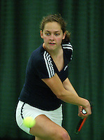 10-3-06, Netherlands, tennis, Rotterdam, National indoor junior tennis championchips, Regina Husak