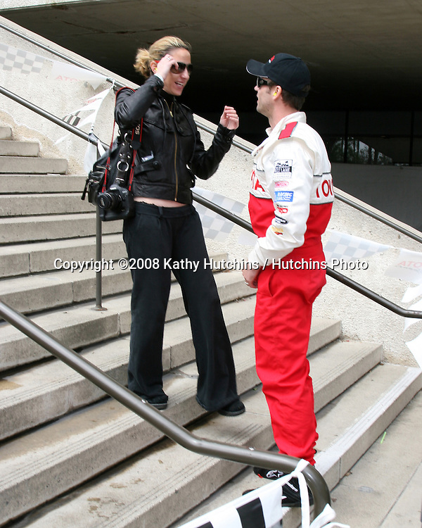 Rachel Marcus & Daniel Goddard prior to the race.Toyota Long Beach Grand Prix - Pro/Celeb Race 2008 .Long Beach,  CA.April 19, 2008.©2008 Kathy Hutchins / Hutchins Photo