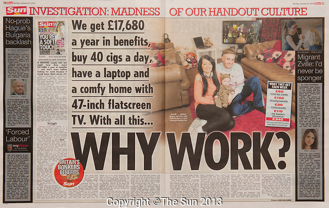 Double-page spread picture, with byline, for an exclusive story in The Sun, 27th February 2013<br /> <br /> Main pic: Chris Balcombe