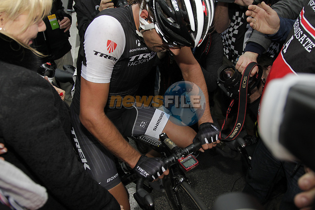 Fabian Cancellara (SUI) Trek Factory Racing wins the 2014 Tour of Flanders, Oudenaarde, Belgium.<br /> Picture: Eoin Clarke www.newsfile.ie