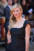 Kirsten Dunst arriving for the UK Premiere of The Two Faces of January<br /> Curzon Cinema, Mayfair, London. 13/05/2014 Picture by: Dave Norton / Featureflash