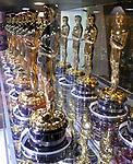 MEET THE OSCARS - An Exhibition of 50 Golden Statuettes &quot; Fifty Oscars, two statuettes that belonged to Hollywood legends, and one statuette for the public to hold will be on display at &ldquo;Meet the Oscars, New York&rdquo; at Times Square Studios in New York City beginning on Monday, February 12, at noon. The exhibition will remain open through Oscar&reg; Saturday, February 24.<br /> <br /> &ldquo;Meet the Oscars, New York&rdquo; provides visitors the opportunity to walk among the displays and see the statuettes that were awarded to Clark Gable for his performance in It Happened One Night (1934) and to Bette Davis for her performance in Jezebel (1938). Also, for the first time in New York City, visitors will be able to be photographed holding an Oscar.<br /> <br /> The other 50 statuettes featured in the exhibition will be presented to winners at a future Academy Awards presentation. (The statuettes on display in &ldquo;Meet the Oscars, Los Angeles&rdquo; from February 9 through 24 will be awarded to winners at the 79th Academy Awards ceremony on February 25.)<br /> <br /> Each Oscar weighs in at 8 1/2 pounds and stands <br /> 13 1/2  inches tall. Handmade annually by R.S. Owens &amp; Company in Chicago, the statuettes are made of britannia, a metal alloy, and are plated in copper, nickel, silver and 24-karat gold.<br /> February 24, 2007