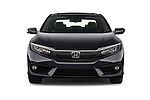 Car photography straight front view of a 2018 Honda Civic Touring CVT 4 Door Sedan Front View