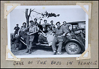 BNPS.co.uk (01202 558833)<br /> Pic: Bellmans/BNPS<br /> <br /> 'Some of the boys in France'. the SAS caused mayhem behind enemy lines in the latter stages of the war.<br /> <br /> A fascinating trove of SAS records including some of the first photographs of the elite force which have never been seen before has been unearthed. <br /> <br /> The extensive assortment, also including medals and documents, was accumulated by war hero Lance Corporal William James Cooke at the end of World War Two. <br /> <br /> Remarkable images of Cooke's previously unrevealed wartime exploits show him serving behind enemy lines in occupied France and assisting with the liberation of Norway. <br /> <br /> His accomplishments have come to light after a family member presented the bequeathed collection to Hampshire-based auctioneer Bellmans, which will sell it tomorrow.