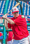 5 March 2015: Washington Nationals Manager Matt Williams taps out infield grounders prior to a Spring Training game against the New York Mets at Space Coast Stadium in Viera, Florida. The Nationals rallied to defeat the Mets 5-4 in Grapefruit League play. Mandatory Credit: Ed Wolfstein Photo *** RAW (NEF) Image File Available ***