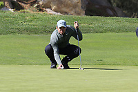 Paul Casey (ENG) lines up his putt on the 2nd green at Monterey Peninsula CC during Saturday's Round 3 of the 2018 AT&amp;T Pebble Beach Pro-Am, held over 3 courses Pebble Beach, Spyglass Hill and Monterey, California, USA. 10th February 2018.<br /> Picture: Eoin Clarke | Golffile<br /> <br /> <br /> All photos usage must carry mandatory copyright credit (&copy; Golffile | Eoin Clarke)