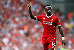 Liverpool's Sadio Mane gestures during the premier league match at Anfield Stadium, Liverpool. Picture date 27th August 2017. Picture credit should read: Paul Thomas/Sportimage