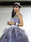 """April 24, 2018, Tokyo, Japan - Japanese model Nicole Fujita displays a wedding dress of the """"b.b. duo"""" in Tokyo on Tuesday, April 24, 2018. Japanese wedding dress maker Mariarosa unveiled the new collection of its brand """"b.b. duo"""" supervised by Nicole Fujita.   (Photo by Yoshio Tsunoda/AFLO) LWX -ytd-"""