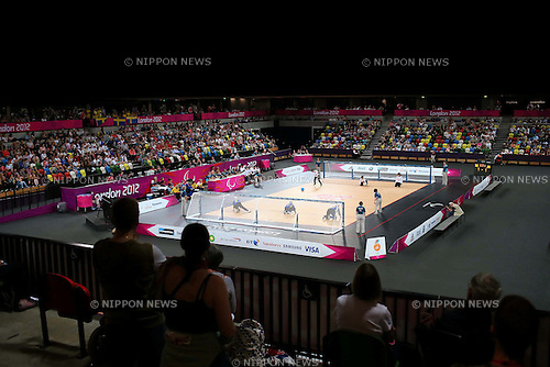 General view, .SEPTEMBER 6, 2012 - Goalball : .Women's goalball Semi-Final match between Sweden 3-4 Japan of the London 2012 Paralympic Games at the Copper Box in Stratford, UK. (Photo by Akihiro Sugimoto/AFLO SPORT) [1081].