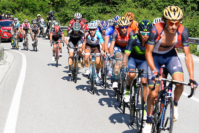 The main contenders in action during Stage 19 of the 100th edition of the Giro d'Italia 2017, running 191km from San Candido/Innichen to Piancavallo, Italy. 26th May 2017.<br /> Picture: LaPresse/Fabio Ferrari | Cyclefile<br /> <br /> <br /> All photos usage must carry mandatory copyright credit (&copy; Cyclefile | LaPresse/Fabio Ferrari)