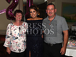 Ciara Gorman celebrating her 21st birthday with parents Gerry and Breda in the Thatch. Photo:Colin Bell/pressphotos.ie