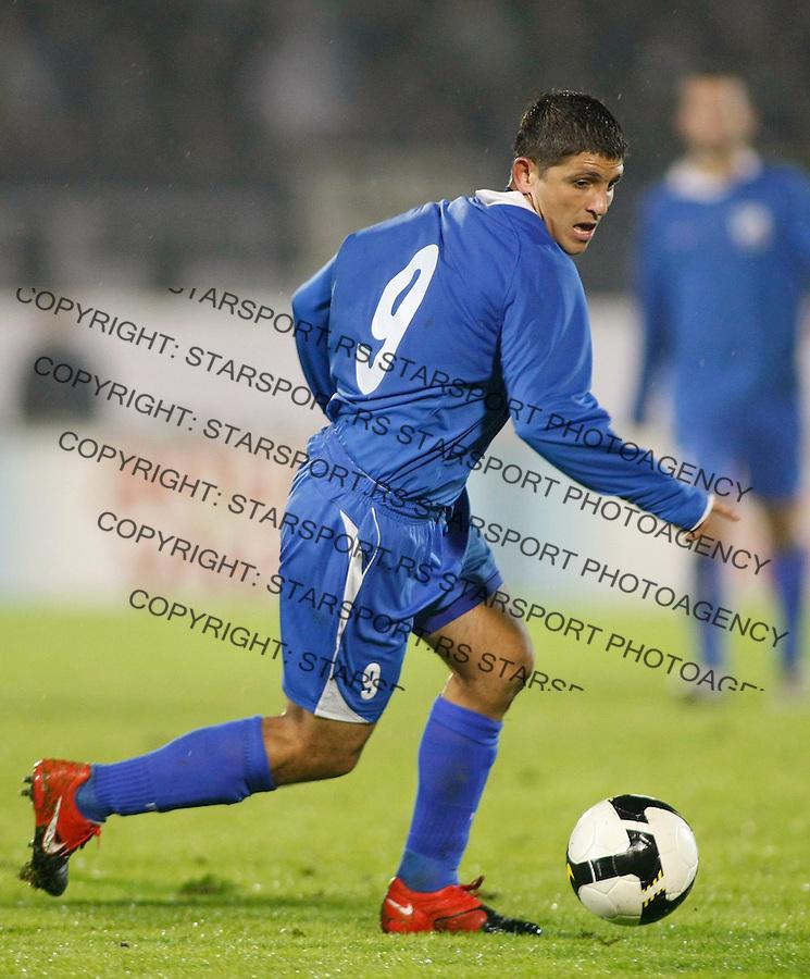Fudbal, Jelen Super liga, sezona 2009-2010.Partizan Vs. Jagodina.Perica Ognjenovic.Pozarevac, 18.10.2009.foto: Srdjan Stevanovic/Starsportphoto ©