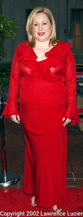 Grace Magazine editor in chief Ceslie Armstrong arrives at the launch party for Grace Magazine May 9, 2002 in New York City.  The magazine features the latest trends in fashion, and beauty for plus size women..