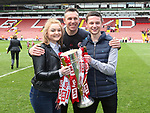 Sheffield United's Darren Ward with his family during the League One match at Bramall Lane, Sheffield. Picture date: April 30th, 2017. Pic David Klein/Sportimage