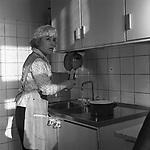 Заслуженная артистка РСФСР Надежда Румянцева в домашней обстановке. г. Москва. 1960-е гг. / Honored Artist of the RSFSR Nadezhda Rumyantseva in a home setting. Moscow. 1960's.