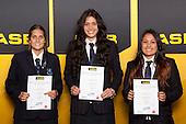 Girls Basketball finalists Morgan Roberts, Penina Davidson and Jordan Cederwell. ASB College Sport Young Sportsperson of the Year Awards held at Eden Park, Auckland, on November 24th 2011.