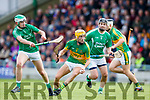 Aidan Boyle Ballyduff in action against John Griffin Lixnaw in the Senior County Hurling Final in Austin Stack Park on Sunday