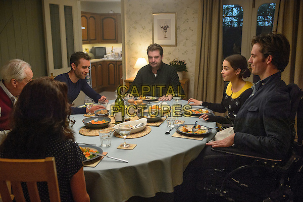Me Before You (2016)<br /> Matthew Lewis, Brendan Coyle, Sam Claflin &amp; Emilia Clarke<br /> *Filmstill - Editorial Use Only*<br /> CAP/KFS<br /> Image supplied by Capital Pictures