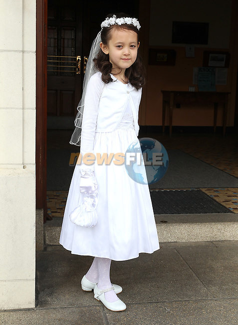 Mailee Murphy pictured on First Holy Communion day at the Lourdes Church on Saturday.