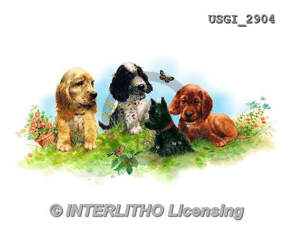 GIORDANO, CUTE ANIMALS, LUSTIGE TIERE, ANIMALITOS DIVERTIDOS, paintings+++++,USGI2904,#AC# ,dogs