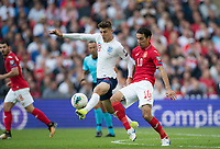 Mason Mount (Chelsea) of England & Ivelin Popov (Rostov) of Bulgaria during the UEFA 2020 Euro Qualifier match between England and Bulgaria at Wembley Stadium, London, England on 7 September 2019. Photo by Andy Rowland.