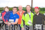 Brendan, Darragh O'Brien Muckross, Tote Roberts Killarney, Adain O'Gorman and Dave McBride Castleisland at the Puck Warriors Duathlon in Killorglin on Saturday