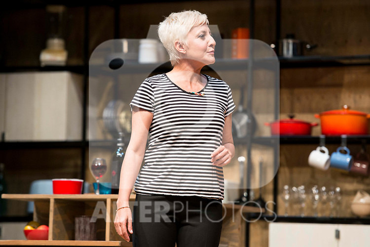 Eva Hache during theater play of &quot;Los vecinos de arriba&quot; at Teatro Circulo de Bellas Artes in Madrid, April 25, 2017. Spain.<br /> (ALTERPHOTOS/BorjaB.Hojas)