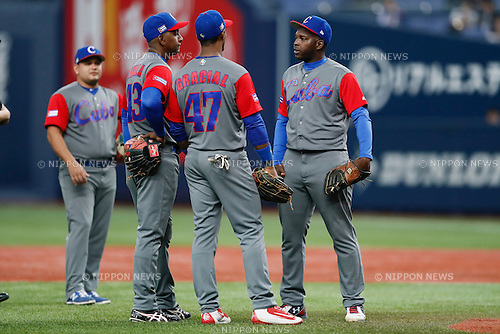 Cuba team group (CUB), <br /> MARCH 5, 2017 - Baseball : <br /> 2017 World Baseball Classic Exhibithion Game <br /> between Seibu Lions - Cuba <br /> at Kyocera Dome Osaka in Osaka, Japan. <br /> (Photo by Yohei Osada/AFLO SPORT)